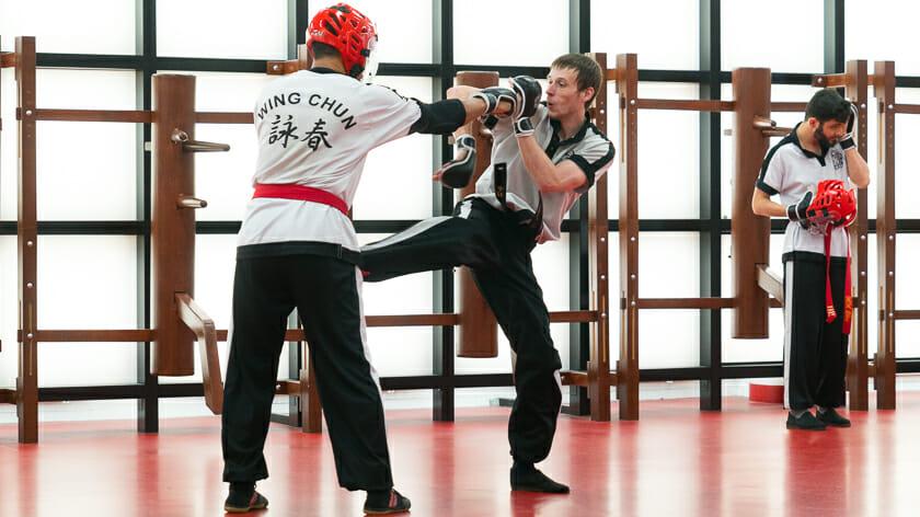 Wing Chun Trappen zijn verraderlijk snel.